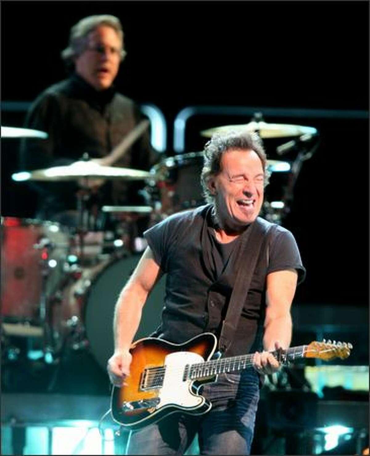 Bruce Springsteen rocking at KeyArena.