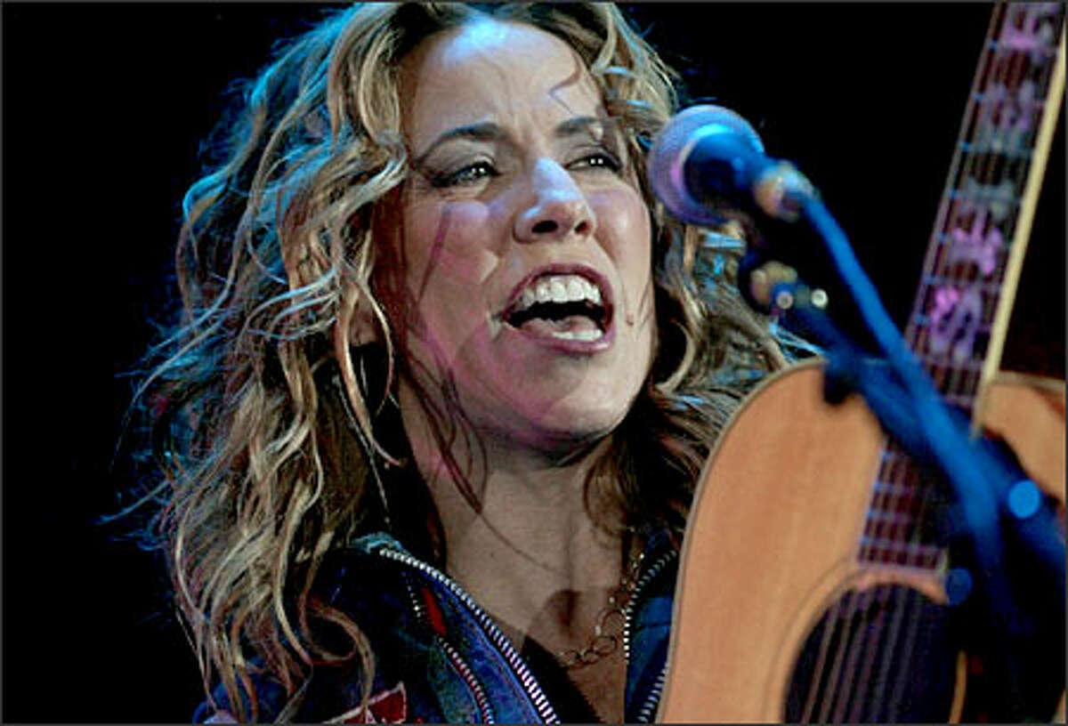 Sheryl Crow opened for the Rolling Stones at the Tacoma Dome.