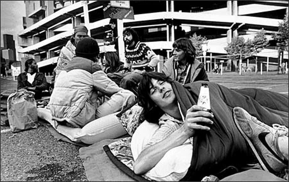 Steve Dailey of Portland was about seventh in line outside the Kingdome for the Rolling Stones concert on Oct. 14, 1981. Photo: P-I File