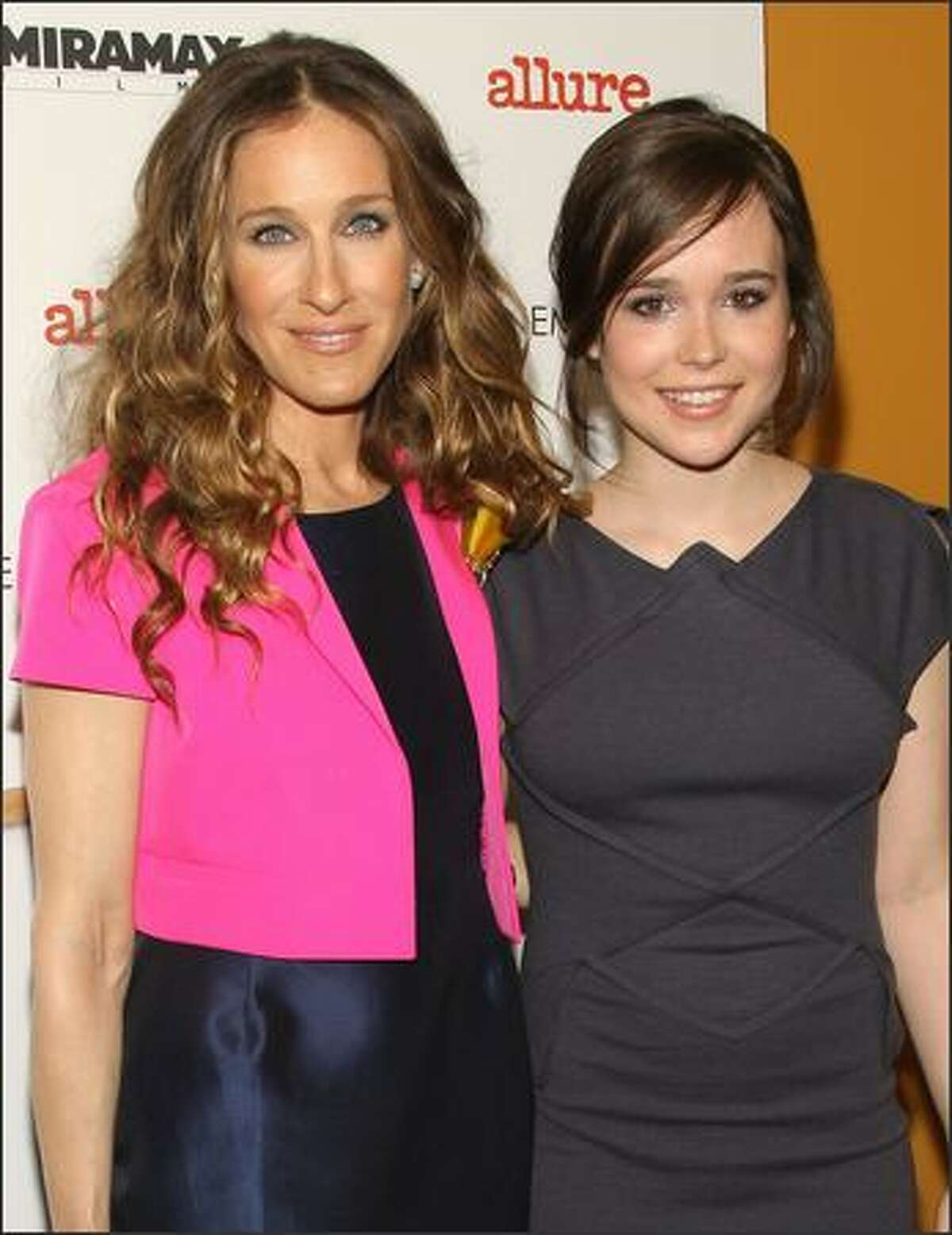 Actors Sarah Jessica Parker and Ellen Page attend
