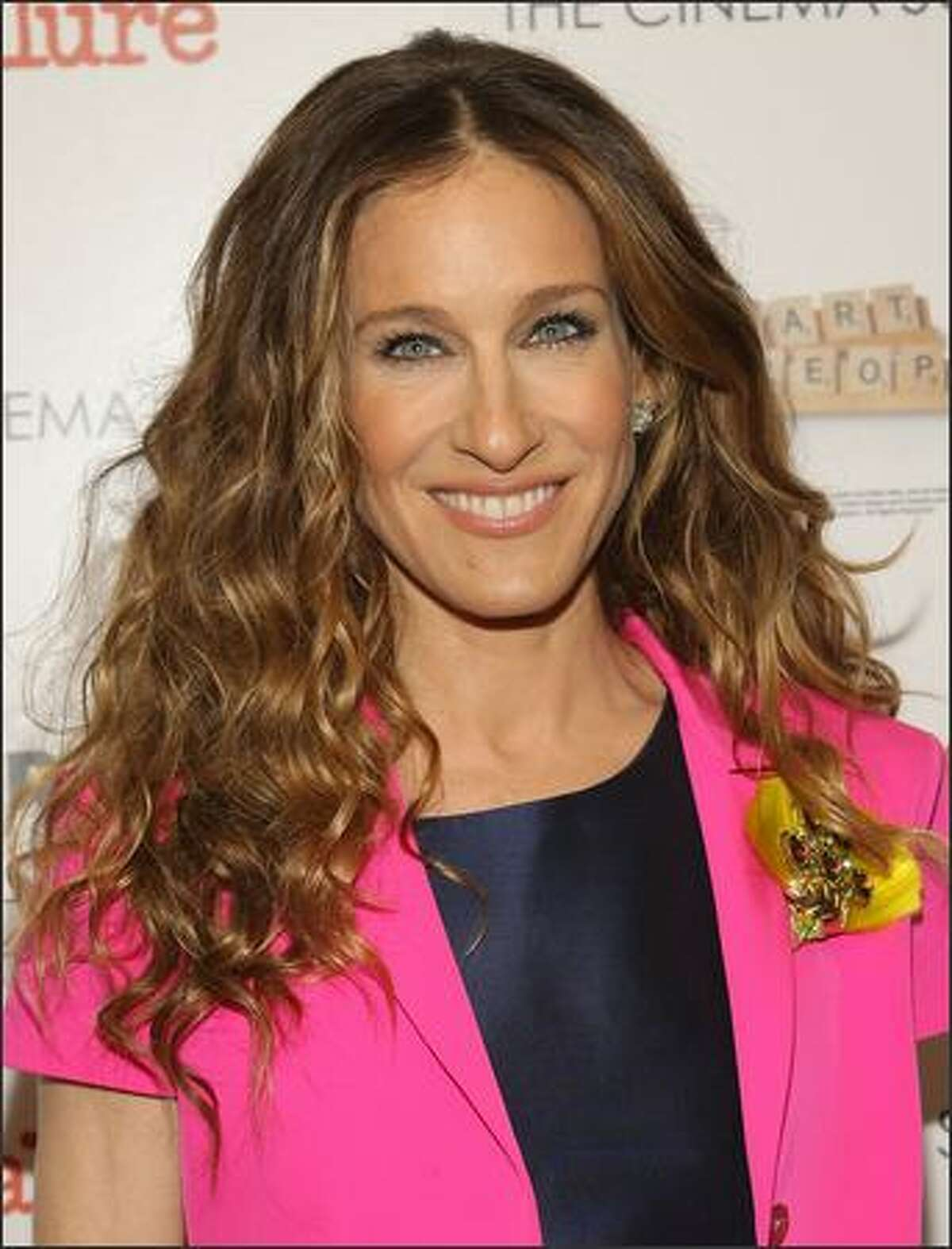 """Actress Sarah Jessica Parker attends """"Smart People"""" screening hosted by the Cinema Society & Linda Wells at the Landmark Sunshine Theater on Monday in New York City."""