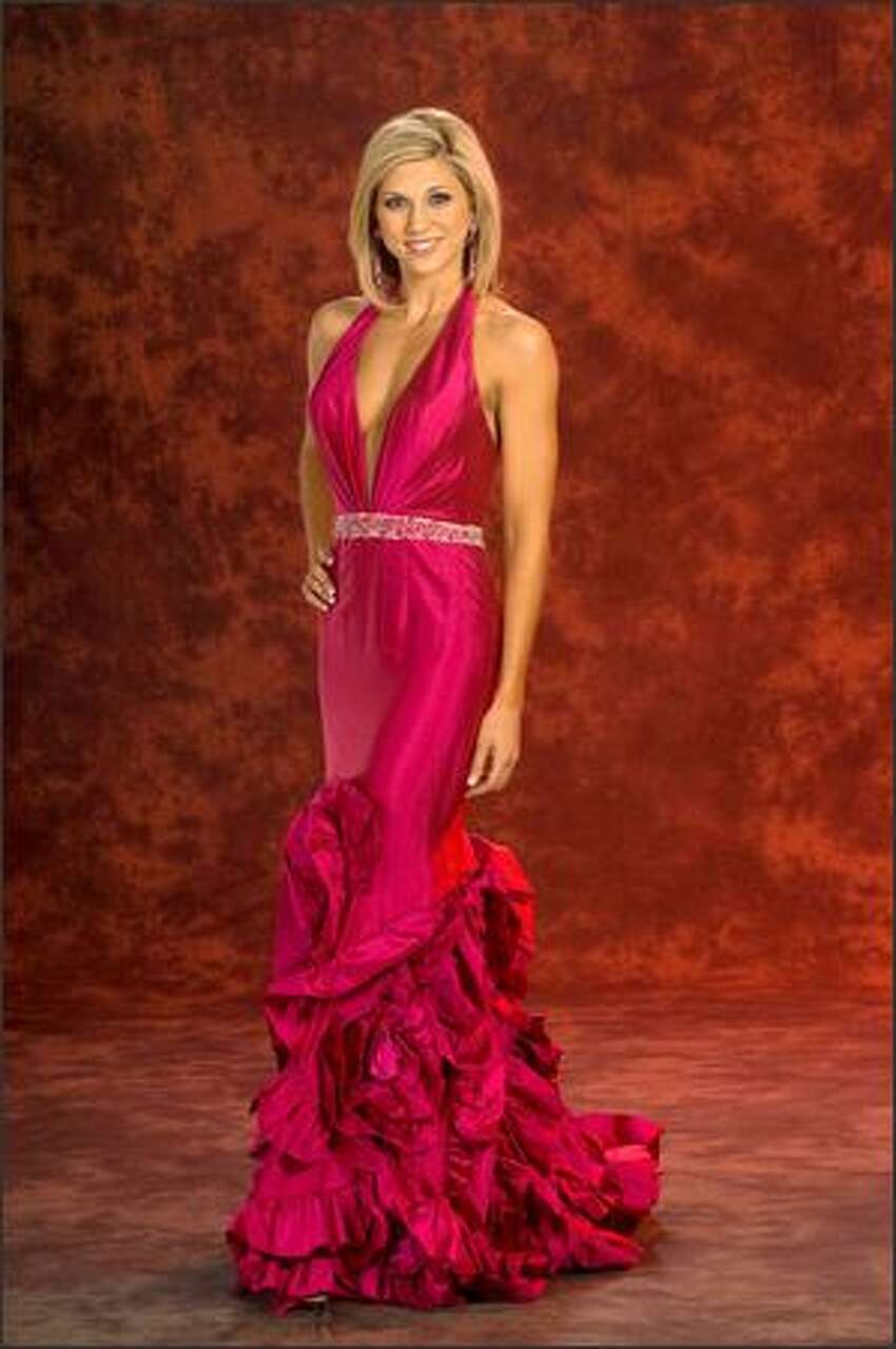 Keisha Walding, Miss Alabama USA 2008, poses in her evening gown during registrations and fittings for the Miss USA competition at the Planet Hollywood Resort and Casino in Las Vegas on March 27. She will compete for the title of Miss USA 2008 during the NBC broadcast on April 11. Walding is 24, a graduate of Samford University and a pharmaceutical sales representative. She became Miss Alabama on her fourth try at the state level.