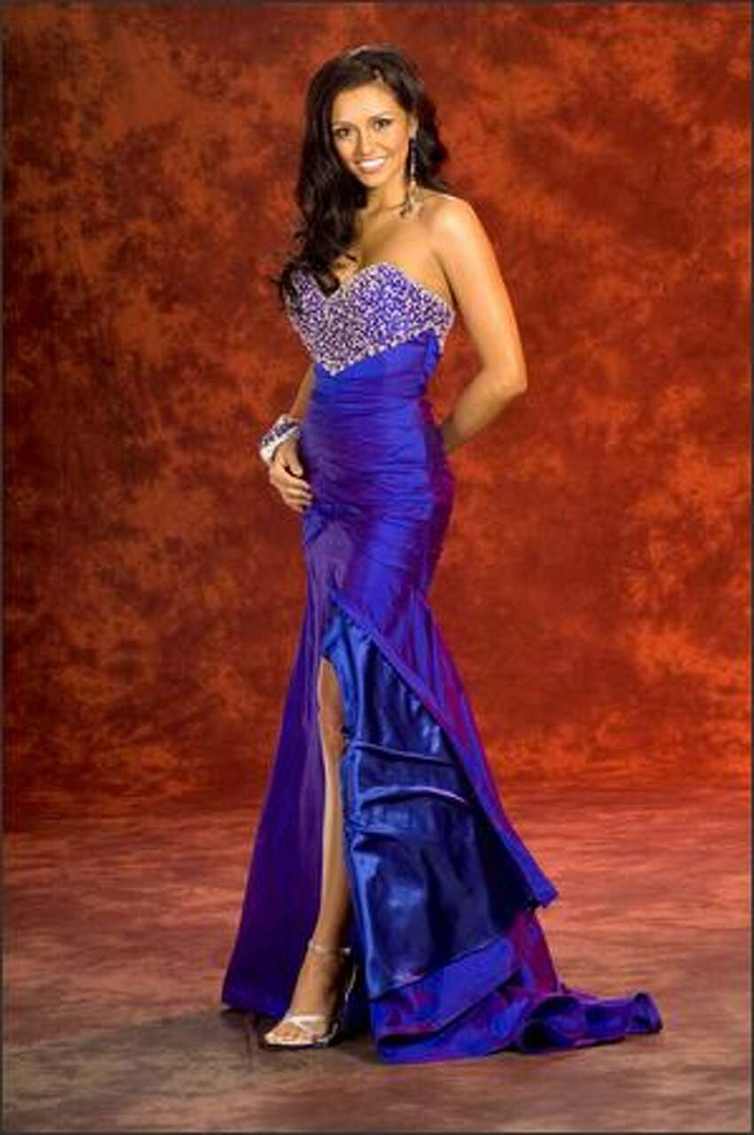 Kimberly Joiner, Miss Arizona USA 2008, is 22, a magna cum laude graduate of Arizona State University and a special education teacher. She is from the Phoenix suburb of Gilbert.