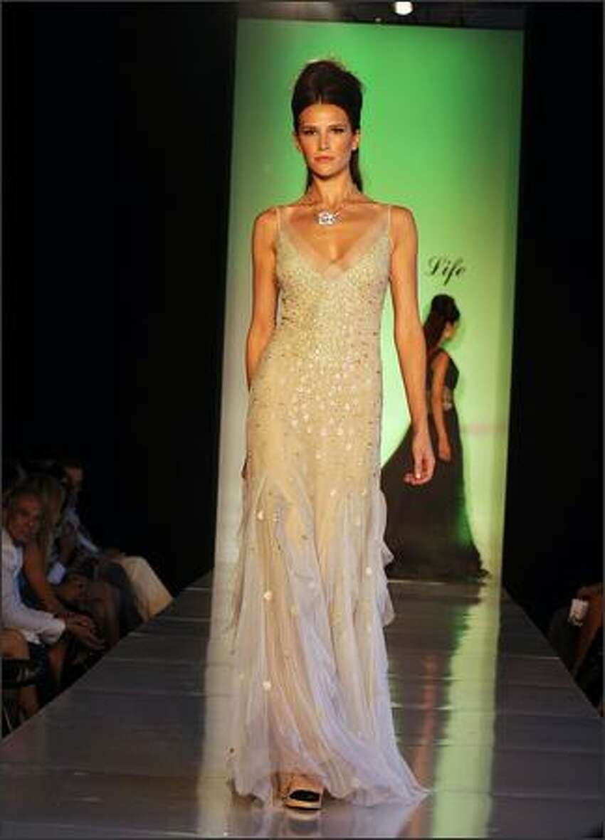 Kevan Hall designs are displayed at Fashion for Life presented by The Friendly House on Monday in Los Angeles, Calif.