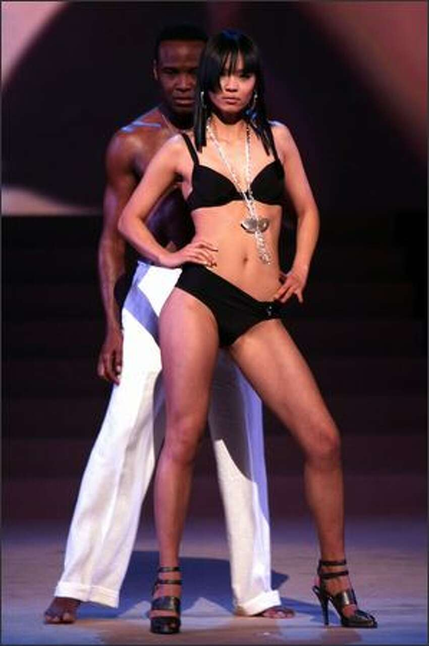 Hiroko Mima, 21, performs during Miss Universe Japan 2008 Final Competition