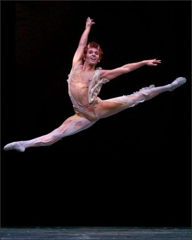 Pacific Northwest Ballet principal dancer Jonathan Porretta as Puck in George Balanchine's A Midsummer Night's Dream.