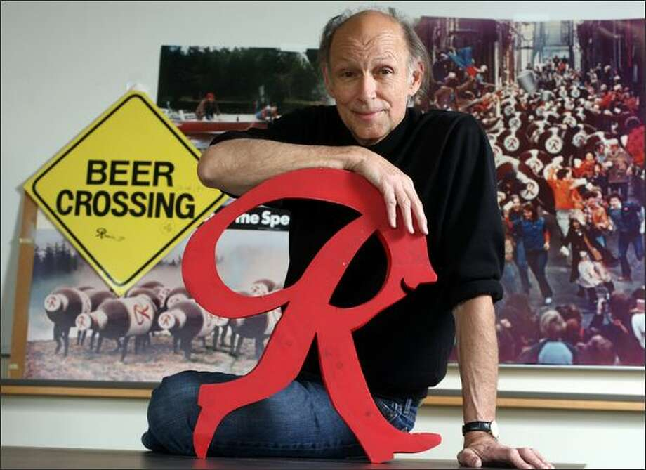 Terry Heckler, co-founder of Heckler and Associates, is the man behind the now-classic Rainier Beer ads from the 1970s and 1980s. Photo: Karen Ducey/Seattle Post-Intelligencer