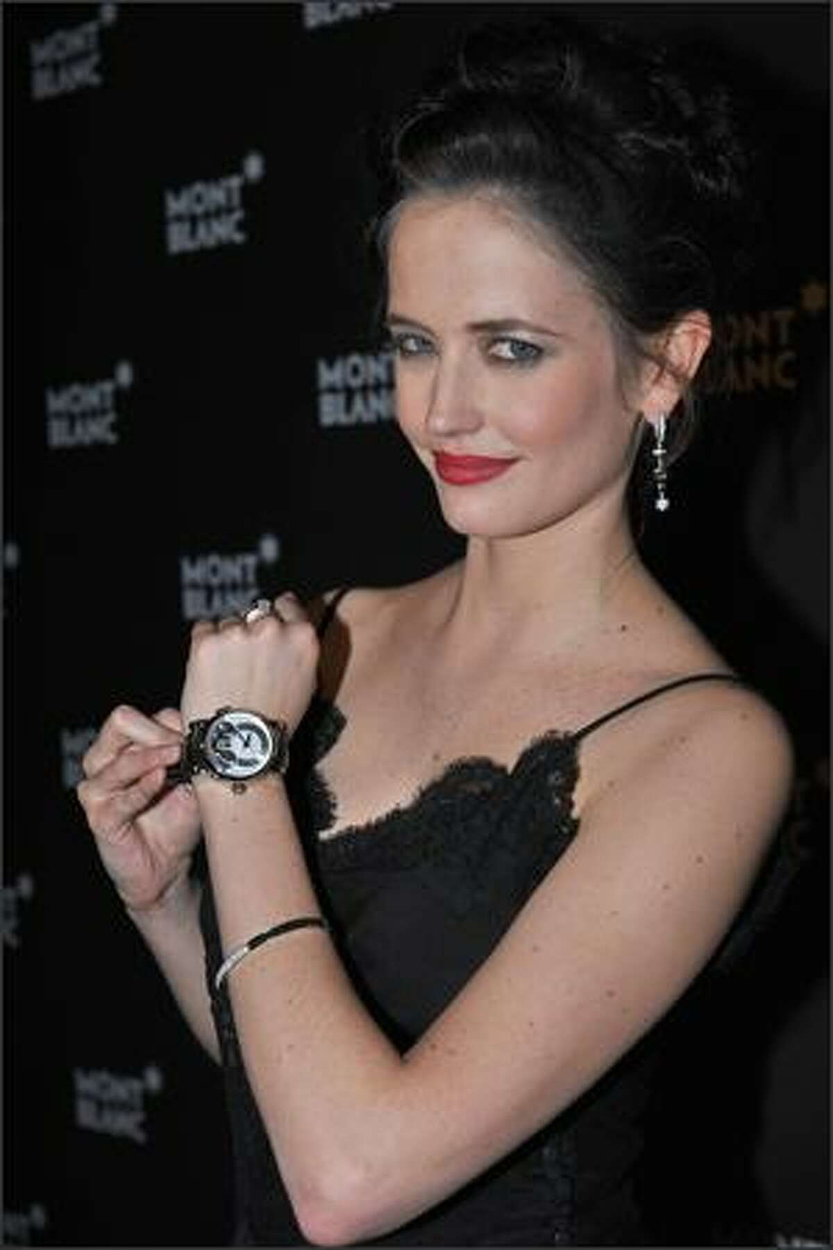 """Actress and Montblanc brand ambassador Eva Green attends """"Writing Time,"""" Robert Wilson's watch launch gala hosted by Montblanc during the Salon International de la Haute Horlogerie at the Geneva Palaexpo in Geneva, Switzerland. (Photo by Pascal Le Segretain/Getty Images for Montblanc)"""