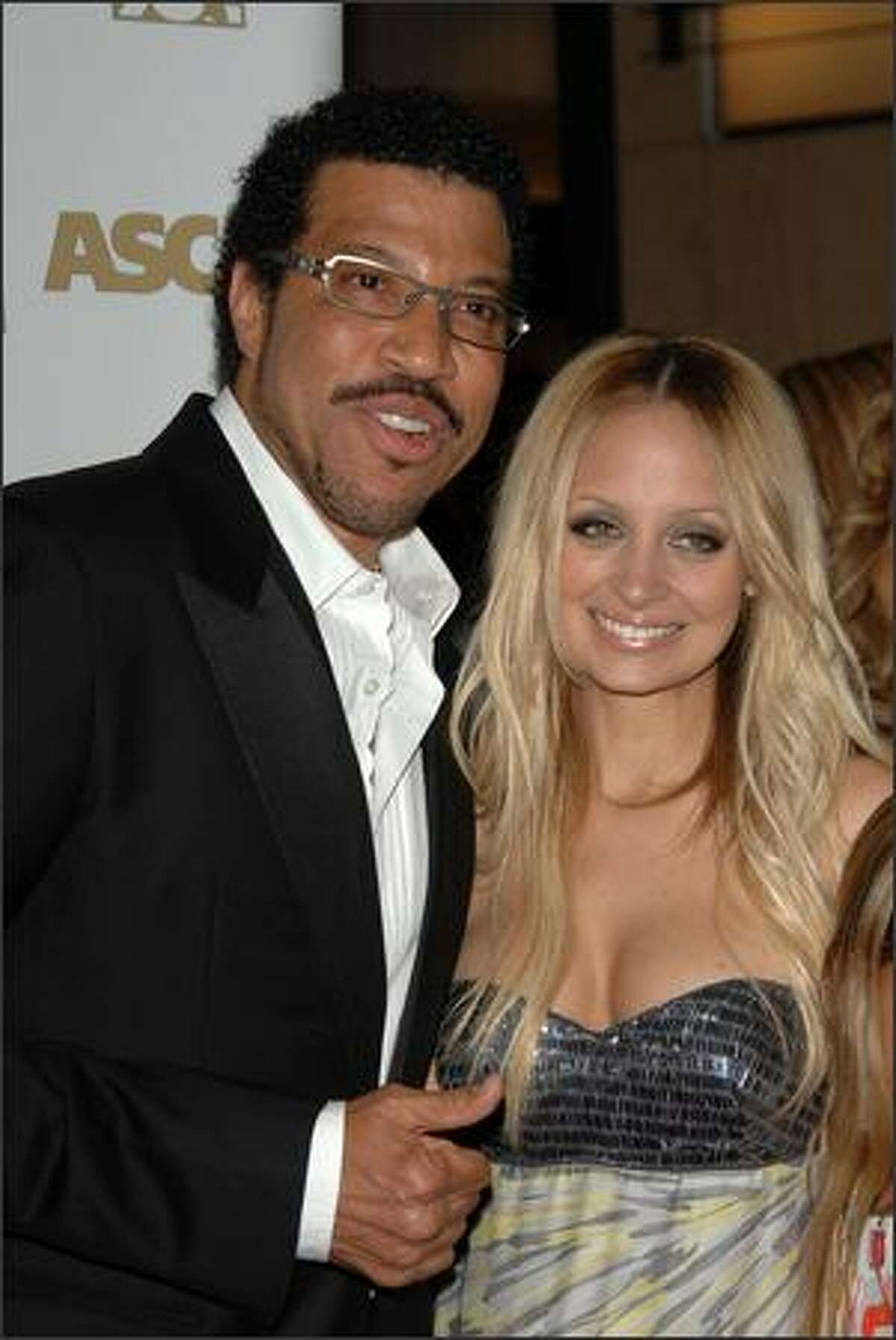 Singer Lionel Richie and daughter Nicole Richie attend ASCAP's 25th Annual Pop Music Awards at the Kodak Theatre on April 9, 2008 in Hollywood, California.