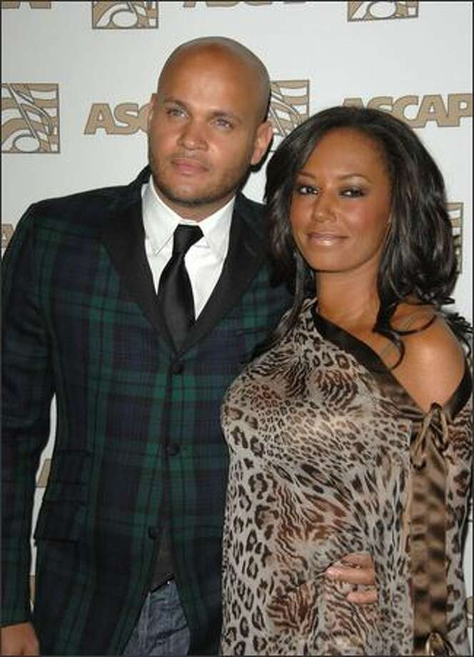Producer Stephen Belafonte and wife, singer Melanie Brown of the Spice Girls, attend ASCAP's 25th Annual Pop Music Awards at the Kodak Theatre  in Hollywood, Calif., on April 9, 2008. Photo: Getty Images