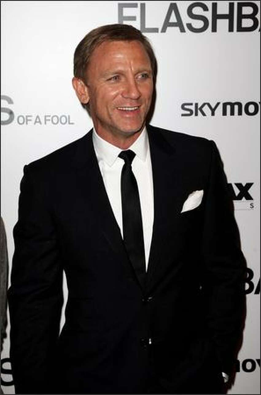 Actor Daniel Craig arrives at the UK premiere of 'Flashbacks of a Fool' at the Empire cinema, Leicester Square on April 13, 2008 in London, England.