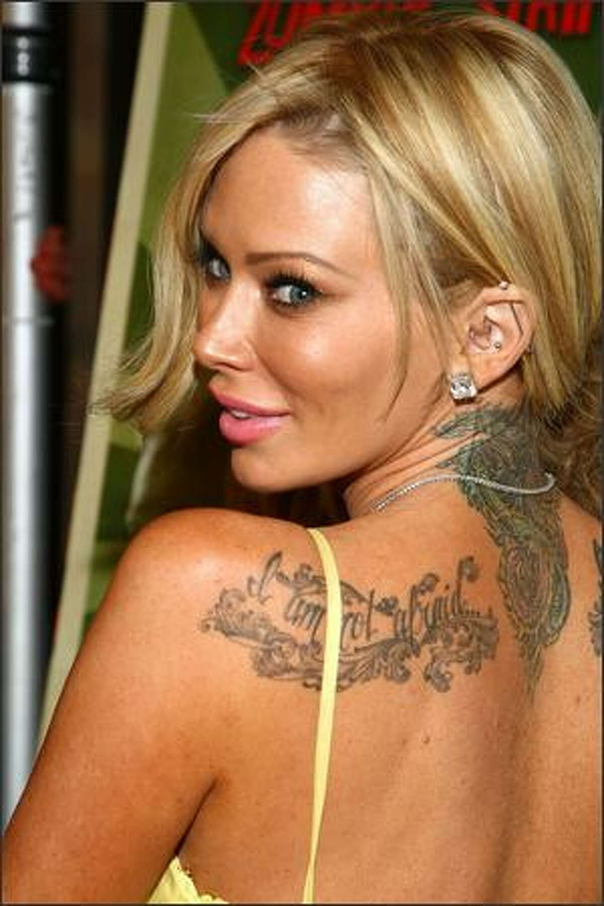 Actress Jenna Jameson arrives at the Triumph Films' premiere of
