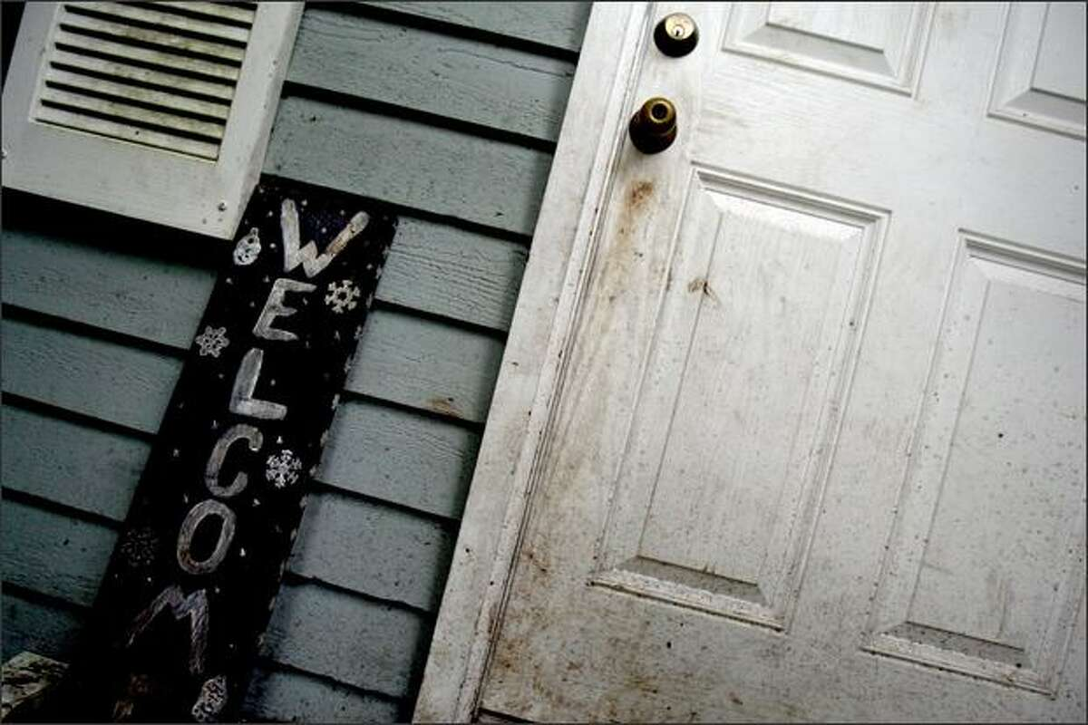 The front door of Rebecca A. Long and Jon E. Pomeroy's house.