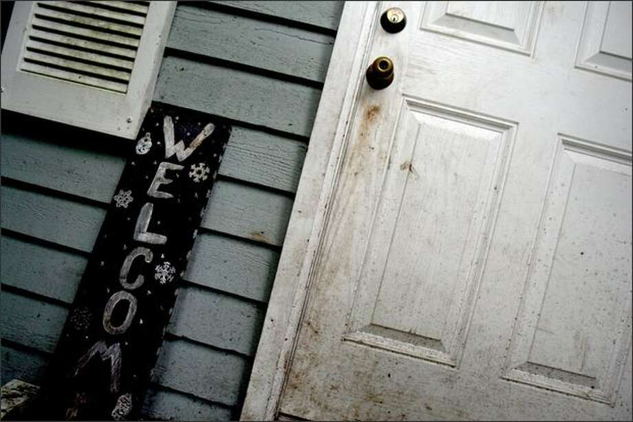 The front door of Rebecca A. Long and Jon E. Pomeroy's house. Photo: Karen Ducey/Seattle Post-Intelligencer