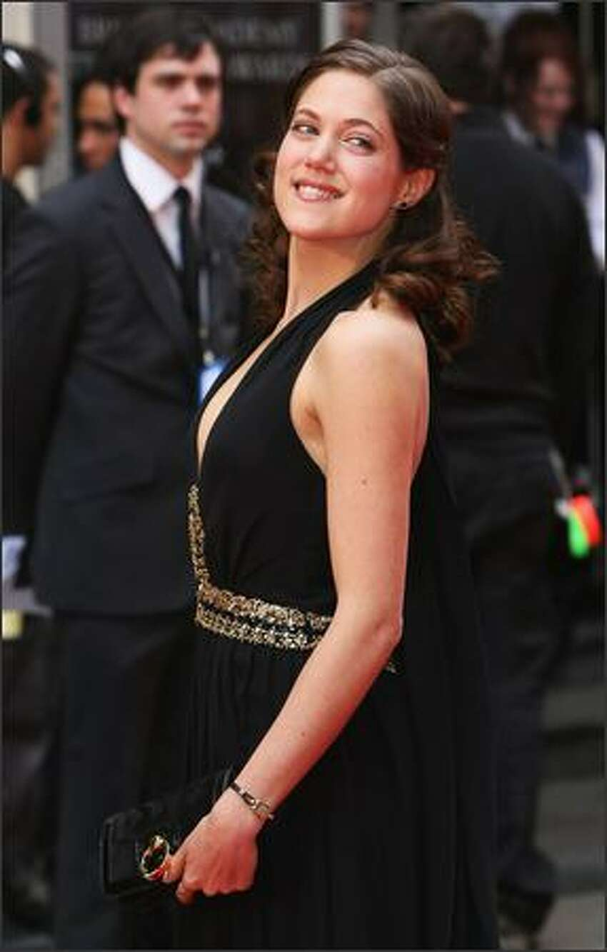 Charity Wakefield arrives for the British Academy Television Awards 2008 at The Palladium on April 20, 2008 in London, England.