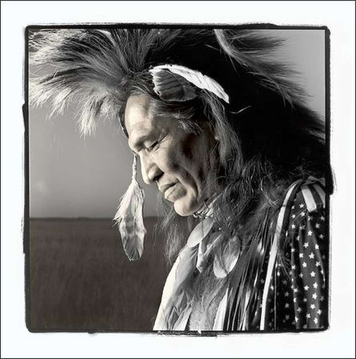 """""""Roy Pete, 44, Navajo, Ft. Washakie, Wyoming, 1998,"""" by Phil Borges"""