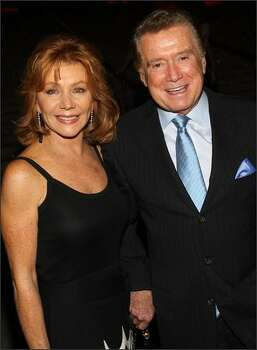 Joy Philbin and TV personality Regis Philbin arrive. Photo: Getty Images