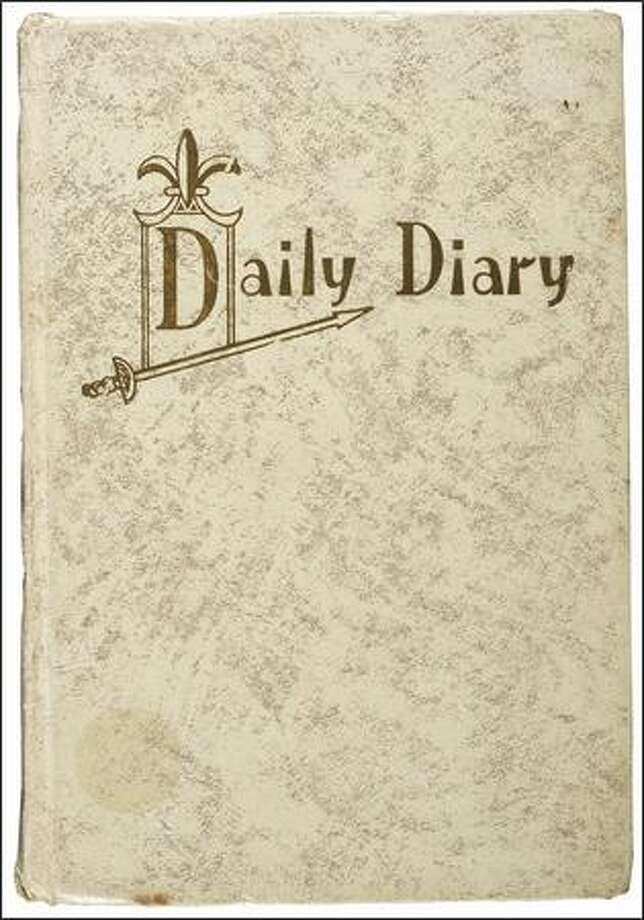 """Daily diary of Jimi Hendrix, March 19-August 7, 1968. Part of the the EMP's """"Jimi Hendrix: An Evolution of Sound"""" exhibit.  Photo courtesy of Experience Music Project"""