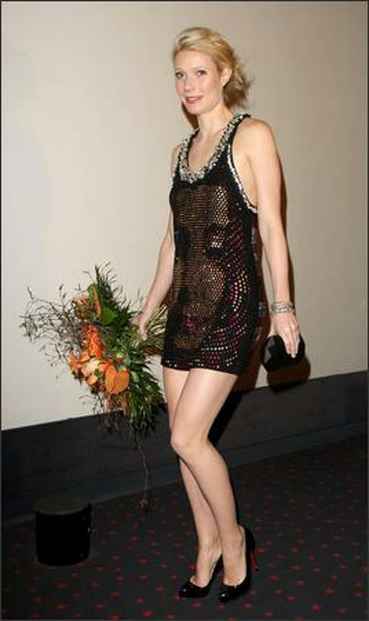 April 22, 2008: Later that same day, Gwyneth Paltrow (in a design by Sonia Rykiel) attends the premiere of the movie