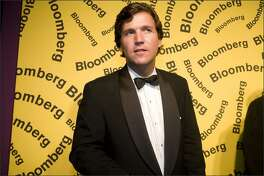TV host Tucker Carlson arrives at the Bloomberg afterparty following the White House Correspondents' Dinner April 26, 2008 in Washington, DC.
