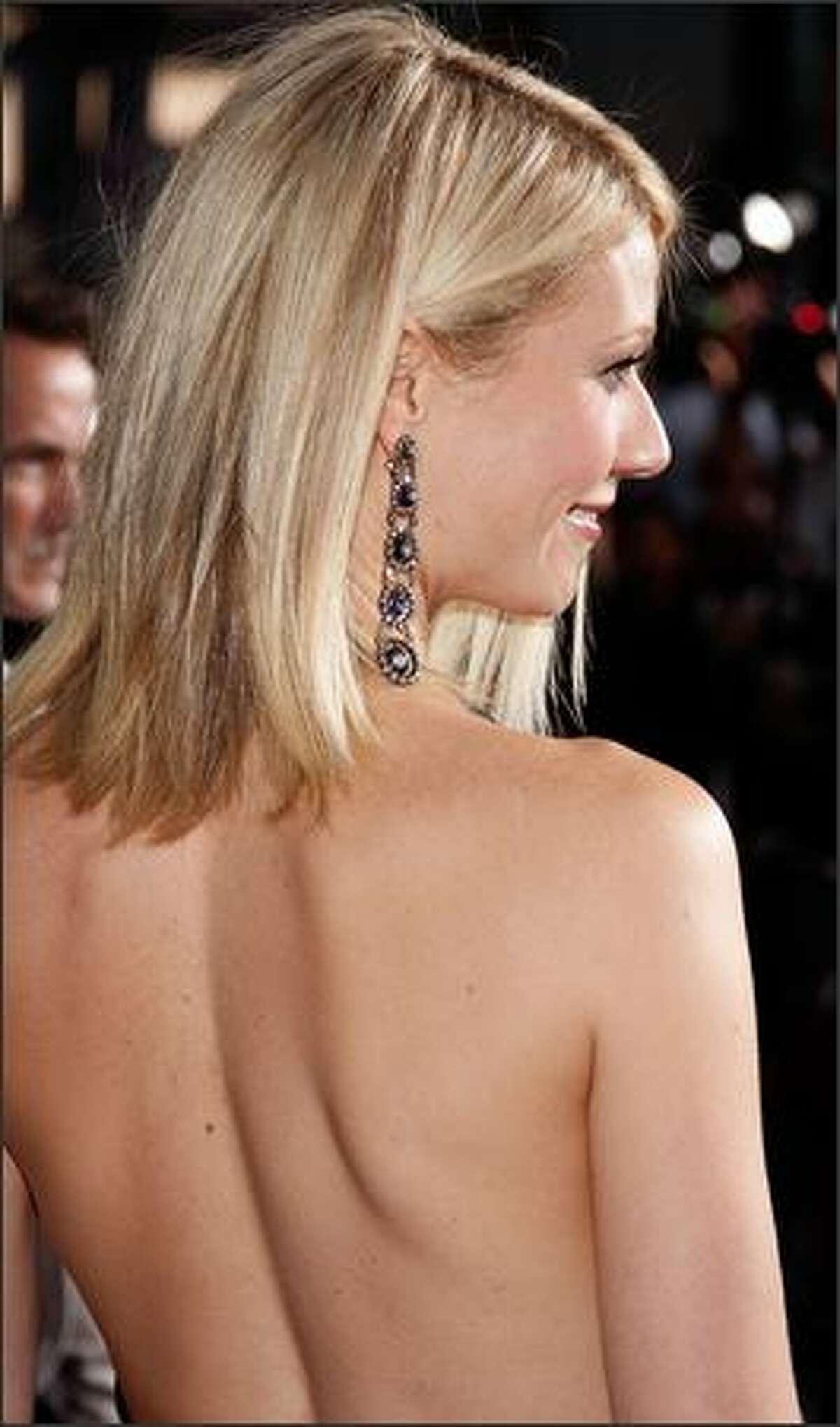 Actress Gwyneth Paltrow arrives.