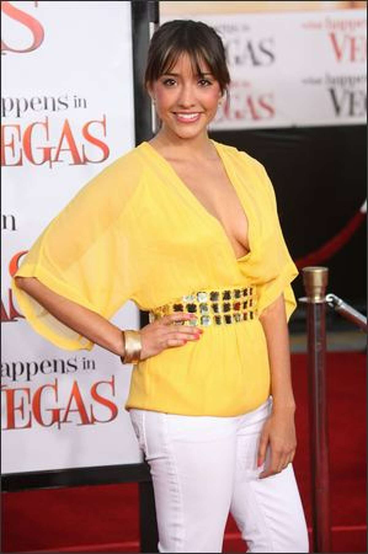 """Actress Fernanda Romero attends the """"What Happens In Vegas"""" film premiere at the Mann Village Theater on Thursday in Westwood, Calif."""
