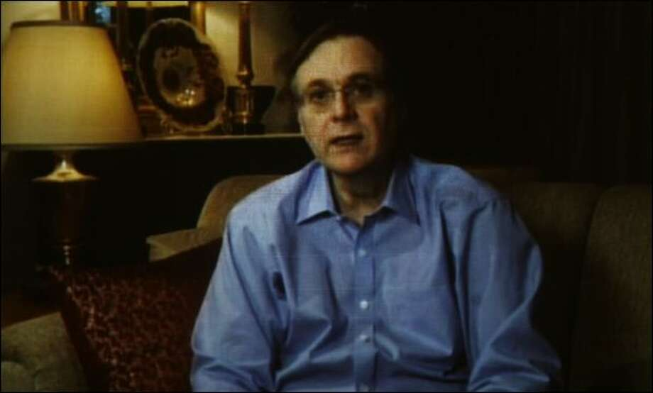 Paul Allen speaks during a previously recorded video.