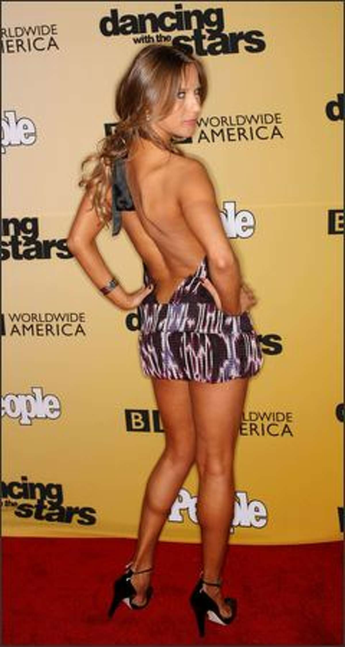 Edyta Silwinska attends the 100th Episode of Dancing With The Stars at the Day After on Tuesday in Los Angeles, Calif.