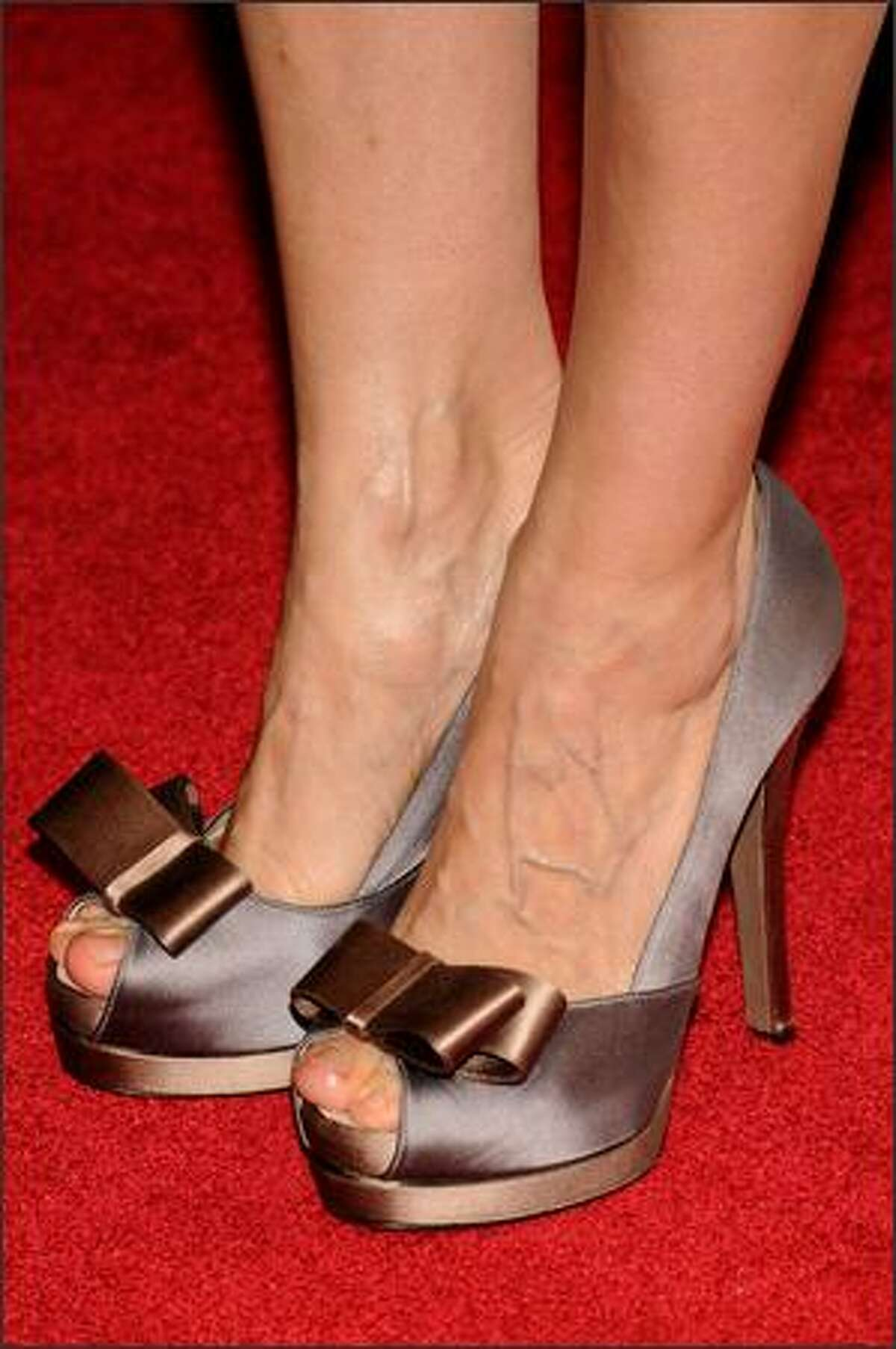 Sarah Jessica Parker's shoes as she arrives at the Point Foundation hosts Point Honors ... The Arts at Capitale in New York on April 7, 2008.