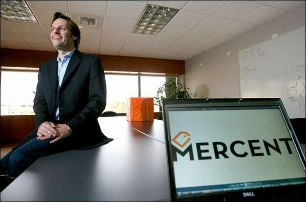 In tough economic times, Eric Best, CEO of Seattle startup Mercent, is counting on growth. The company helps online retailers get more revenue out of their Internet ads. Photo: Scott Eklund/Seattle Post-Intelligencer