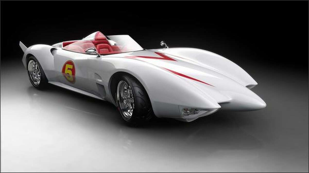 The thunderous Mach 5, Speed Racer's supercharged race car.