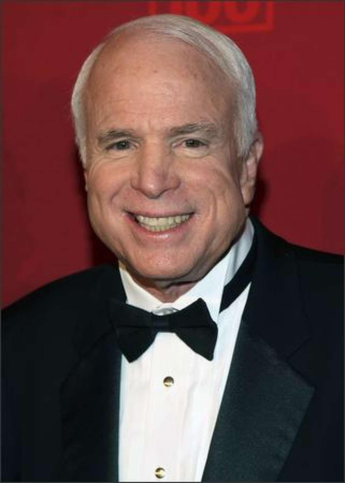 Sen. John McCain arrives.