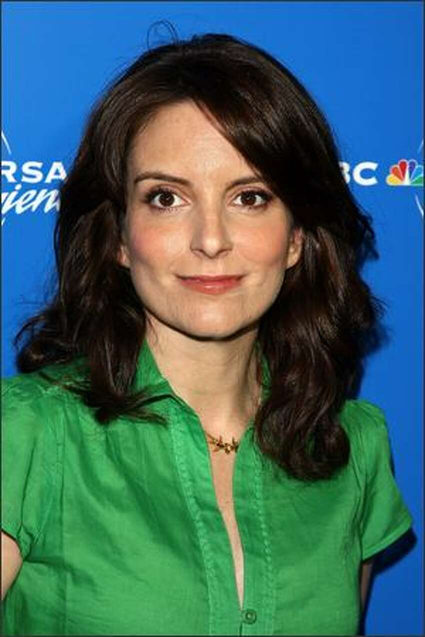 Actress/writer Tina Fey arrives for the NBC Universal Experience at Rockefeller Center as part of Upfront Week on Monday in New York City.