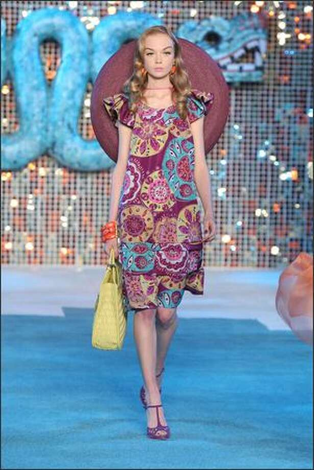 A model walks the runway during the Christian Dior Cruise 2009 Collection at Gustavino's on Monday in New York City. Photo: Getty Images