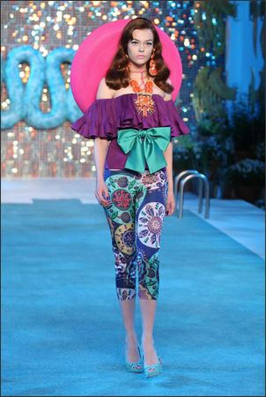 A model walks the runway during the Christian Dior Cruise 2009 Collection at Gustavino's on Monday in New York City.