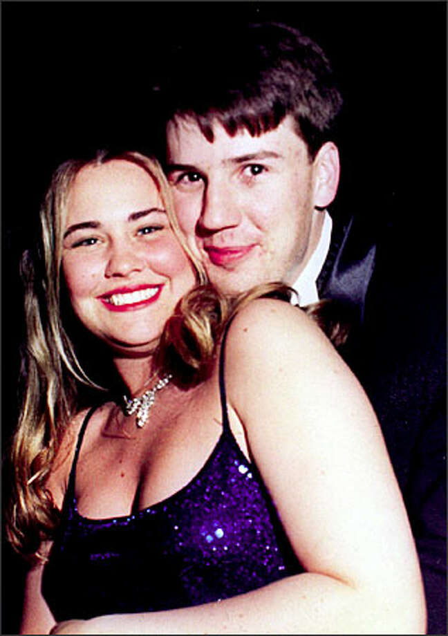 Kellie and Jason Cosner in a high school prom photo. The two were married about two years ago. Photo: Family Photo