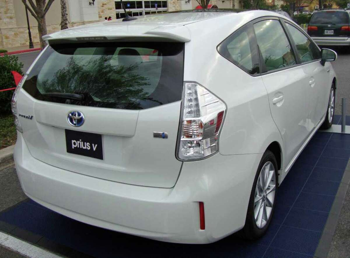 Toyota later this year will expand the Prius hybrid line with this crossover model, dubbed the Prius V. The automaker had the vehicle on display at The Rim shopping center recently.