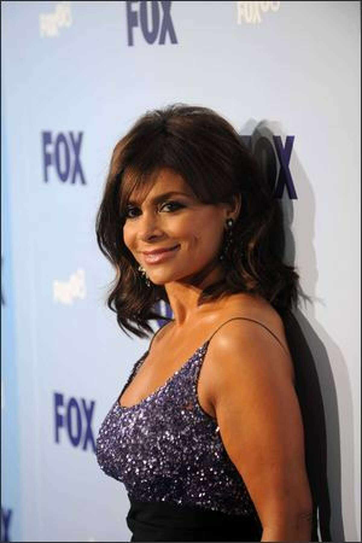 Television personality Paula Abdul attends the 2008 FOX Upfront at the Wollman Rink in Central Park on Thursday in New York City.
