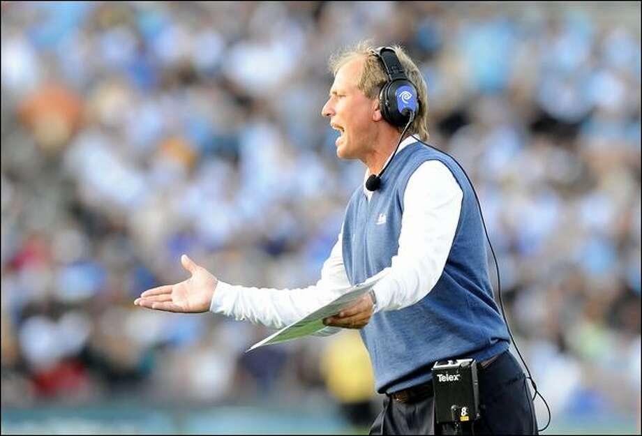 Rick Neuheisel was the coach the last time the University of Washington football team had a winning season. Photo: Lisa Blumenfeld/Getty Images