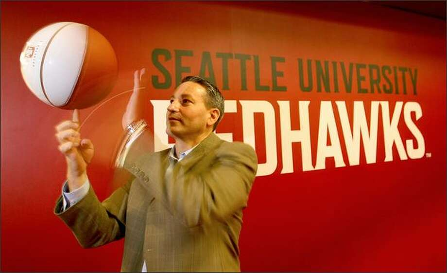 Seattle University coach Joe Callero was child No. 8 in a Sweet 16 raised by Vern and Diane Callero. All but the three eldest played basketball at Enumclaw High. Photo: Scott Eklund/Seattle Post-Intelligencer