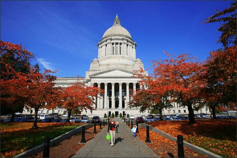 The state's beautiful Legislative Building was built in the 1920s for $7 million. Its exterior dome is the world's fourth-tallest masonry dome. Photo: Scott Eklund/Seattle Post-Intelligencer