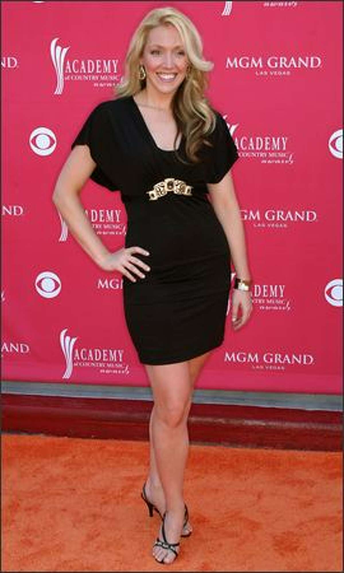Singer Amber Rhodes arrives at the 43rd annual Academy Of Country Music Awards in Las Vegas.