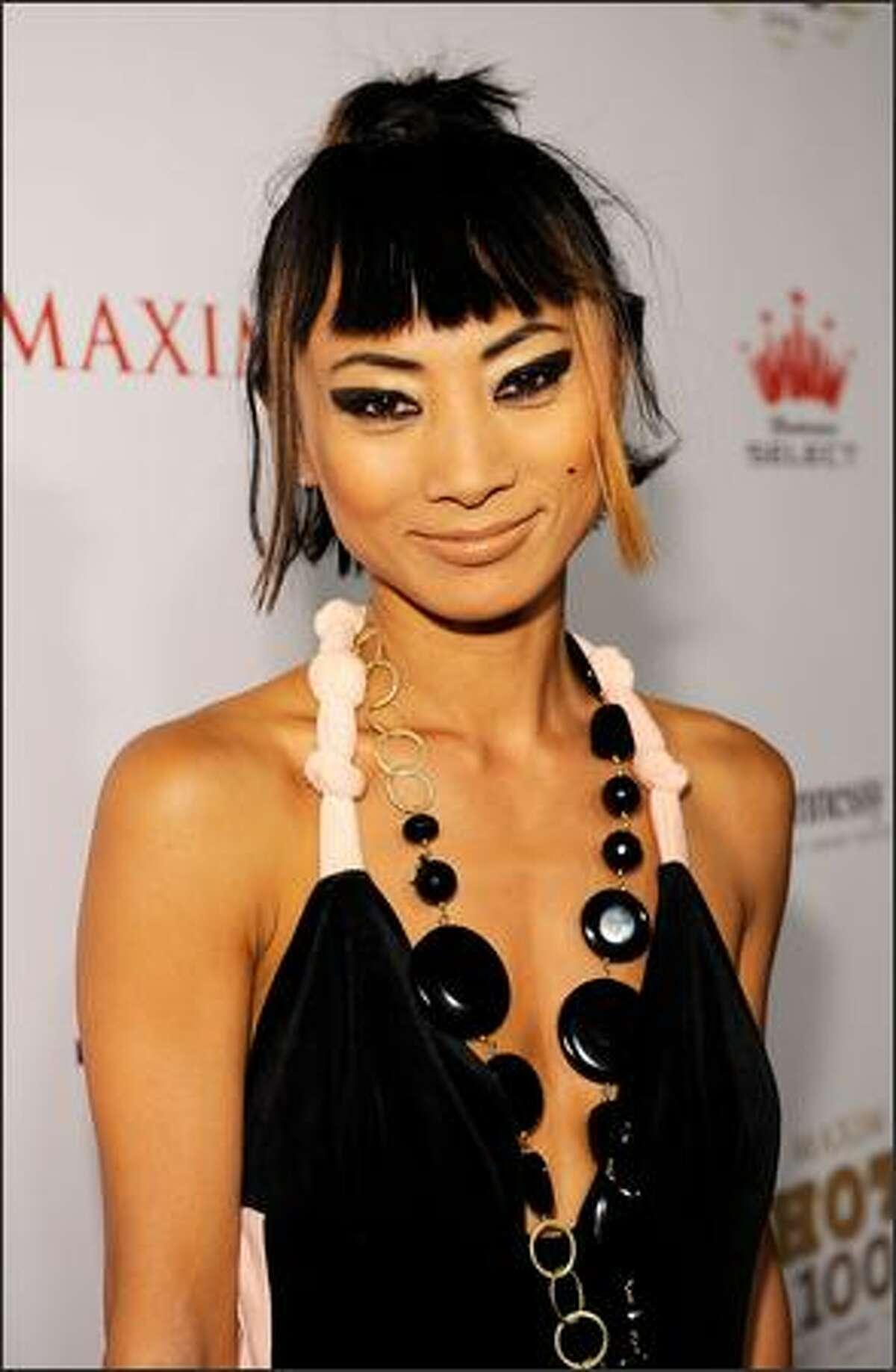 Actress Bai Ling arrives at Maxim's 2008 Hot 100 Party held at Paramount Studios in Los Angeles, California.