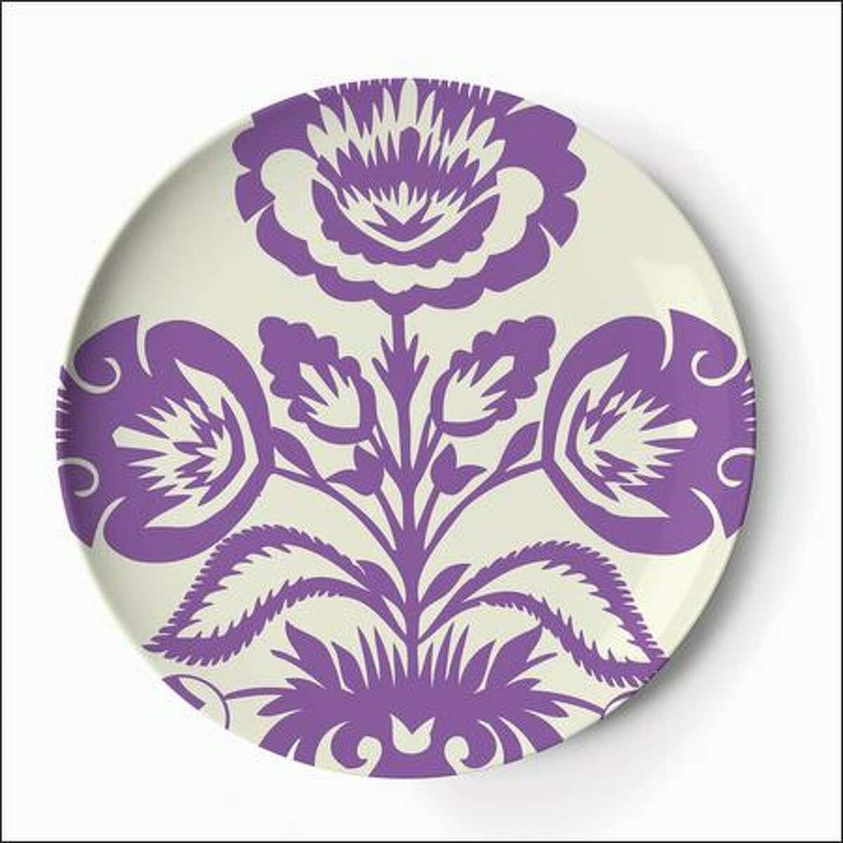 Thomas Paul melamine folk dinner plates from Curiosity Shoppe ($4-$36) curiosityshoppeonline.com