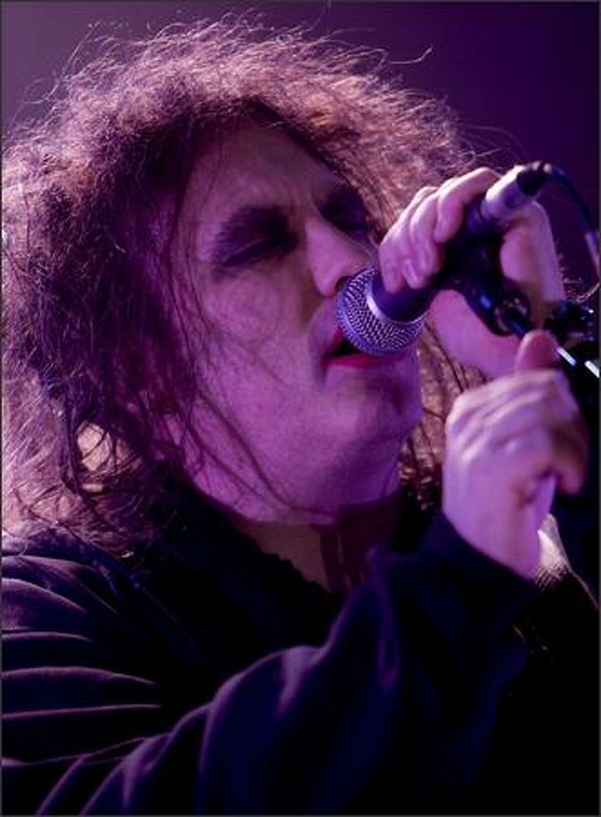 Robert Smith of The Cure performs at the Sasquatch Music Festival.