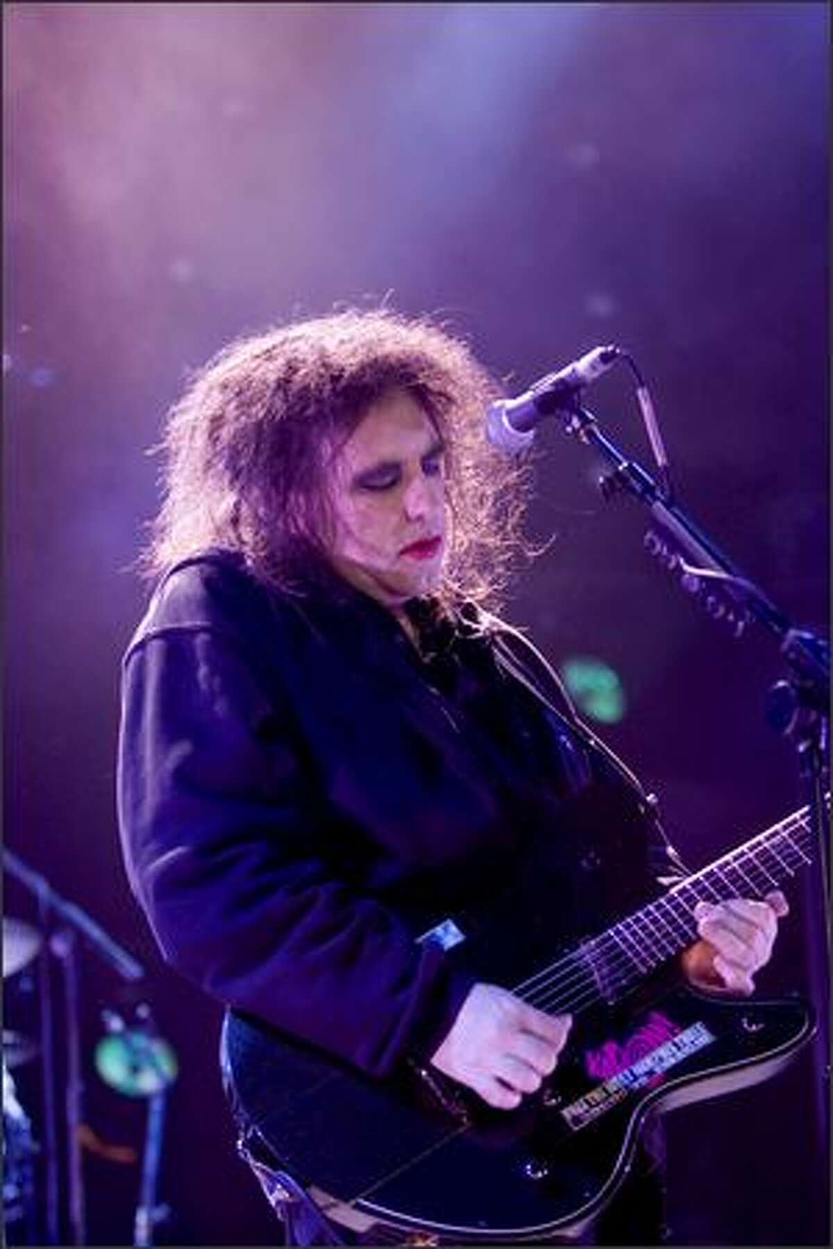 Robert Smith of The Cure performs at the Sasquatch Music Festival on Saturday.