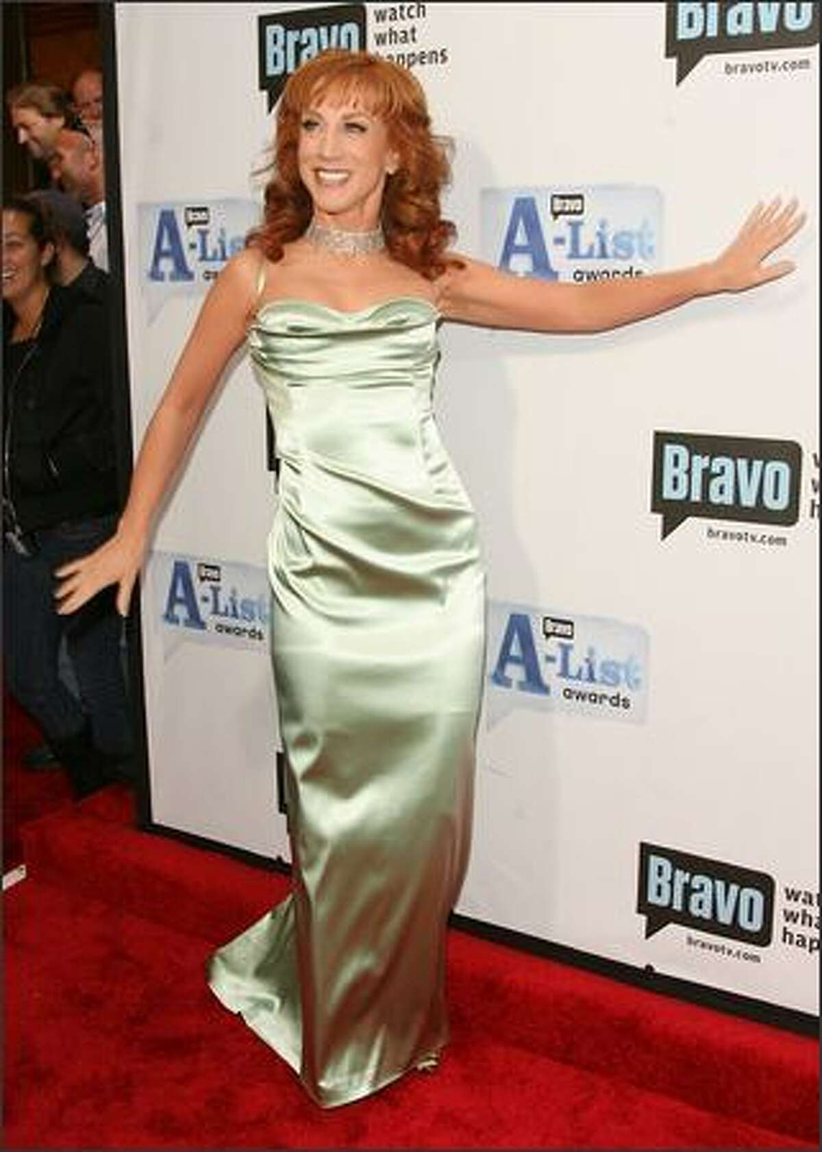 Host Kathy Griffin attends Bravo's First