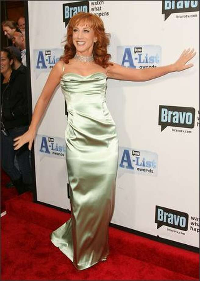 "Host Kathy Griffin attends Bravo's First ""A-List Awards"" show at the Hammerstein Ballroom in New York. Photo: Getty Images"