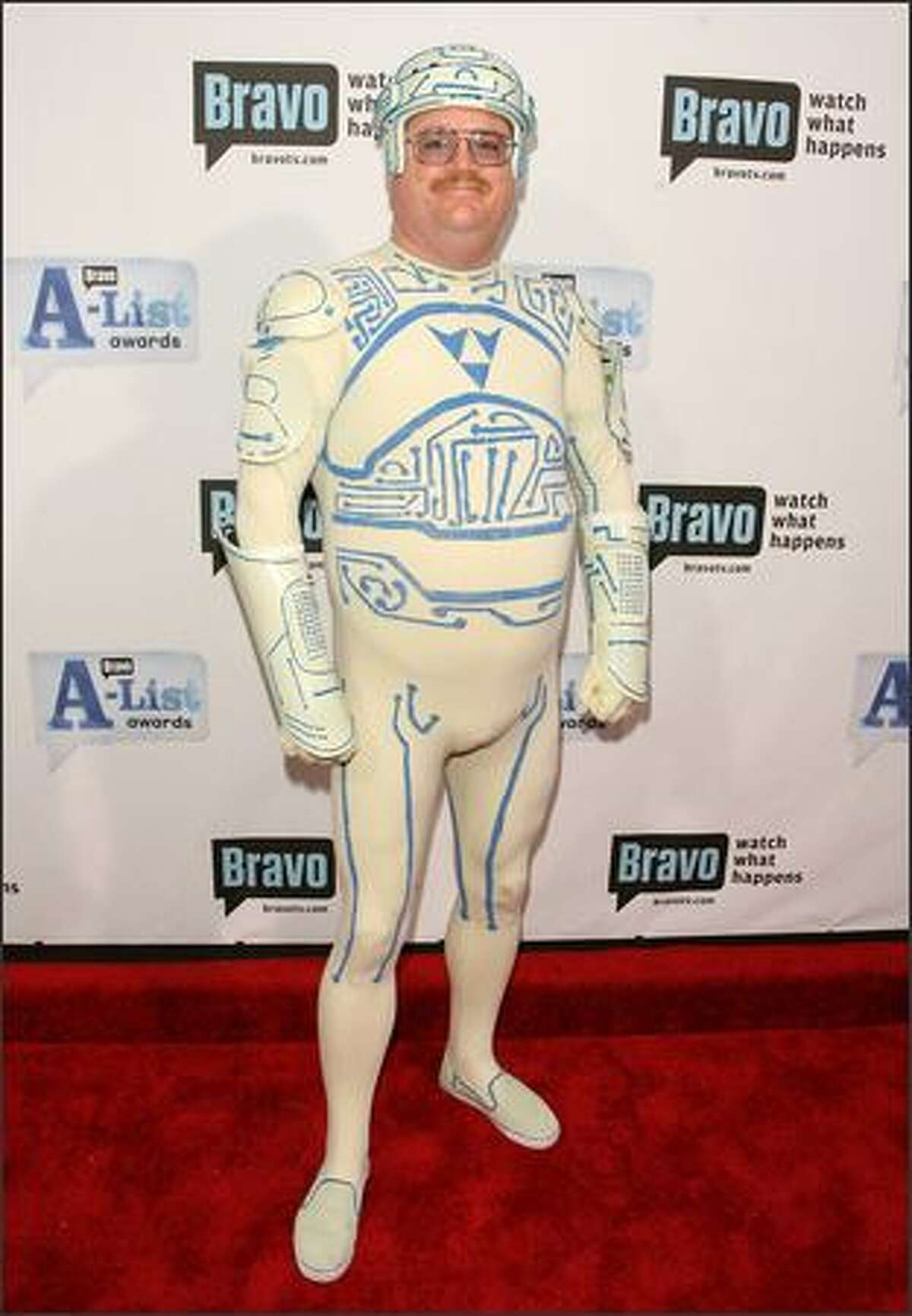 """""""Tron Guy"""" Jay Maynard attends Bravo's First """"A-List Awards"""" show at the Hammerstein Ballroom in New York."""