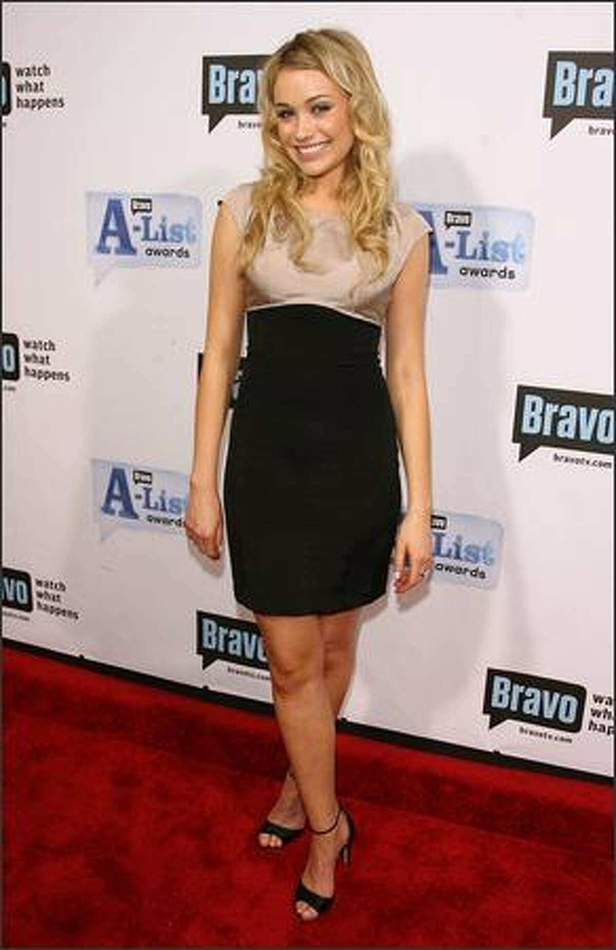 """Actress Katrina Bowden attends Bravo's First """"A-List Awards"""" show at the Hammerstein Ballroom in New York."""